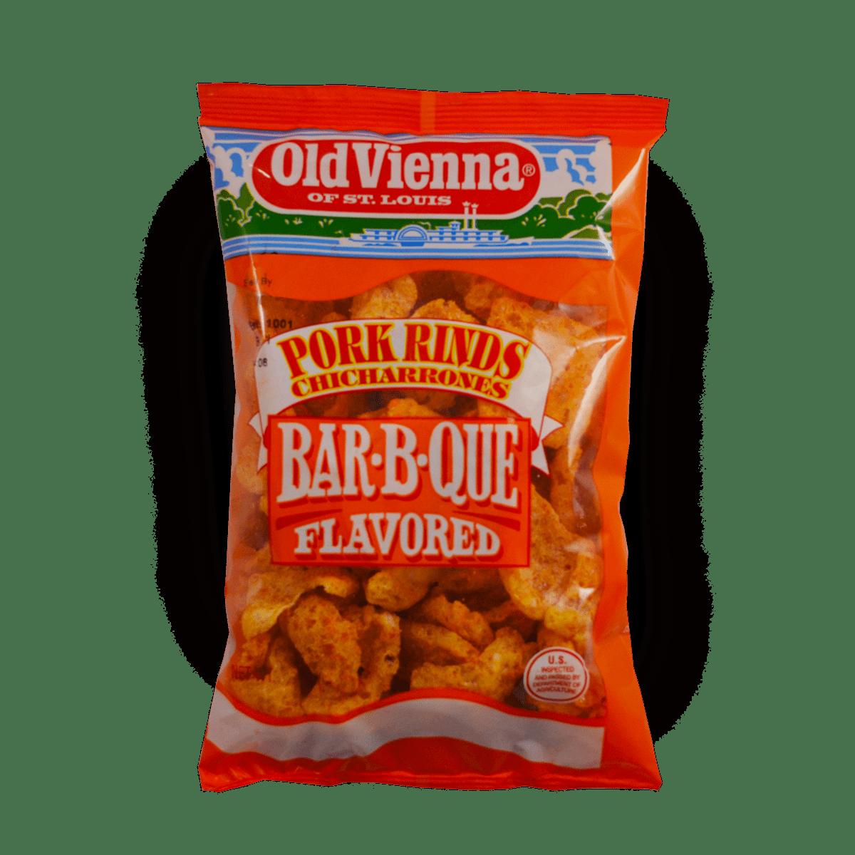 Old Vienna Barbecue Flavored Pork Rinds Chicharrones