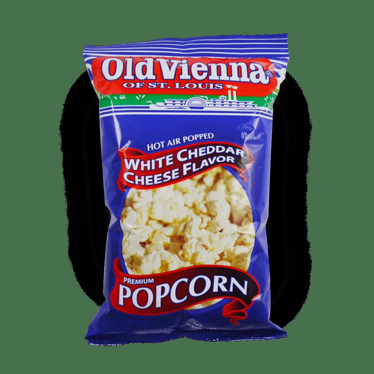 Old Vienna White Cheddar Cheese flavored popcorn