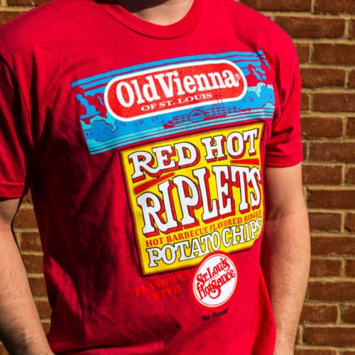 Red Shirt with Old Vienna Red Hot Riplets Logo